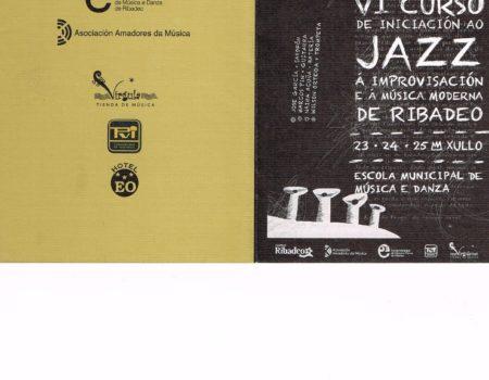 VI Curso de Iniciación ao Jazz, á Improvisación e á Música Moderna