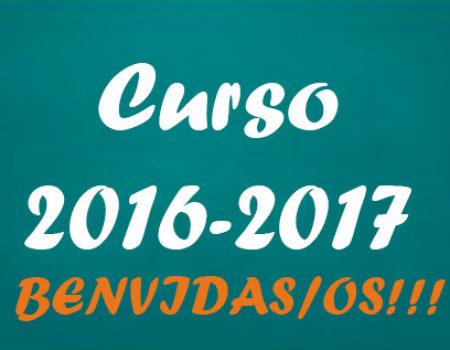 Inicio do curso 2016/2017