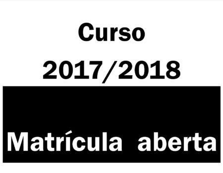 Matrícula curso 2017/2018