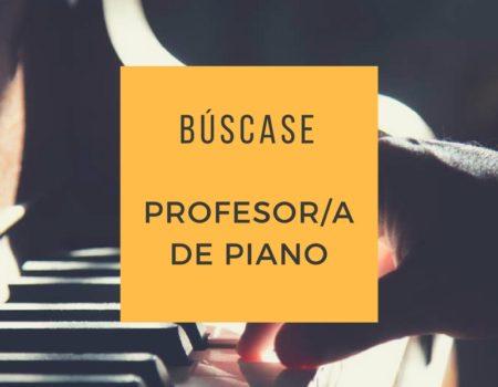 Búscase profesor/a de piano