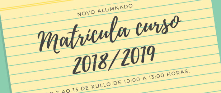 Matrícula curso 2018/2019