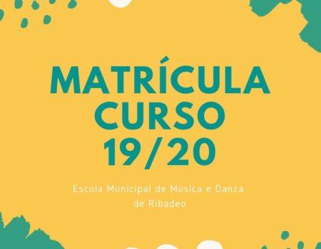 Matrícula curso 2019/2020