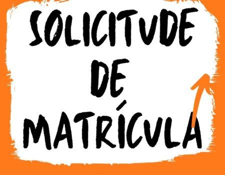 APERTURA DO PRAZO DE SOLICITUDE DE MATRÍCULA