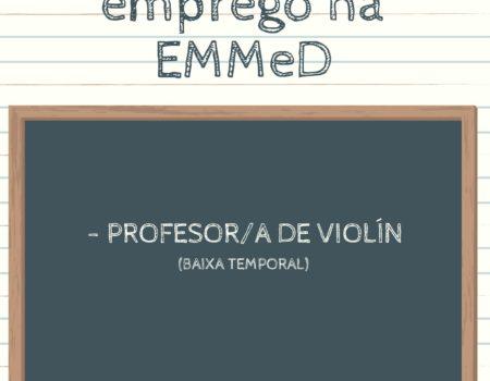 Convocatoria de emprego na EMMeD