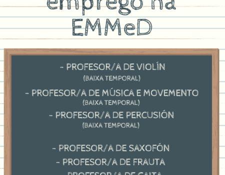Ofertas de emprego na EMMeD